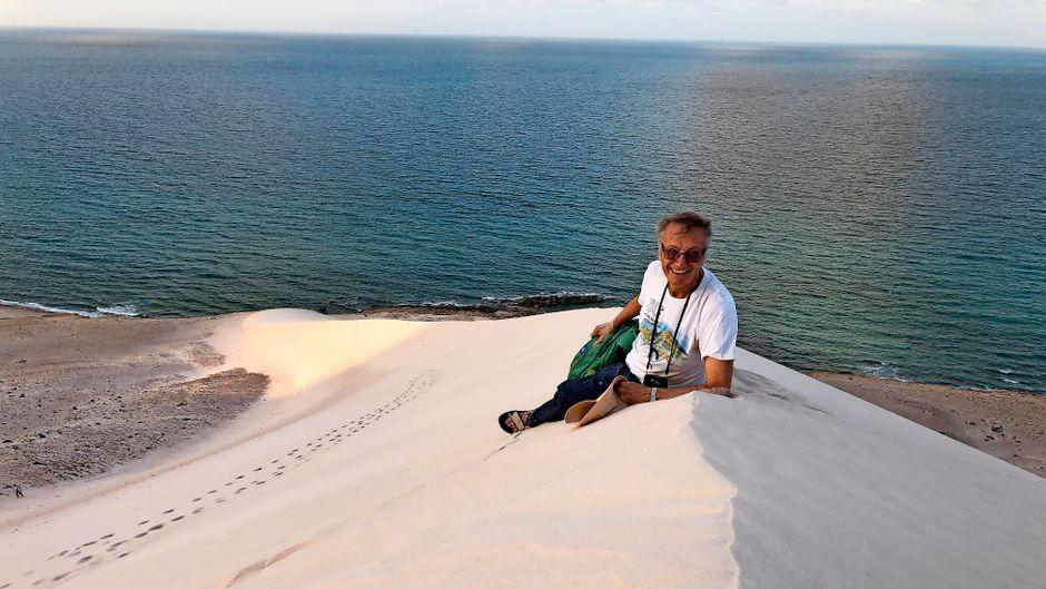 Tony Wheeler ist der Gründer von Lonely Planet und auch heute noch ein leidenschaftlicher Reisender.