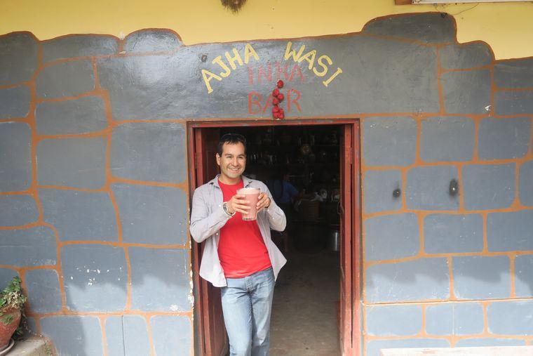 "Die Maisbier-Bar ""Ajha Wasi"" in Cusco."