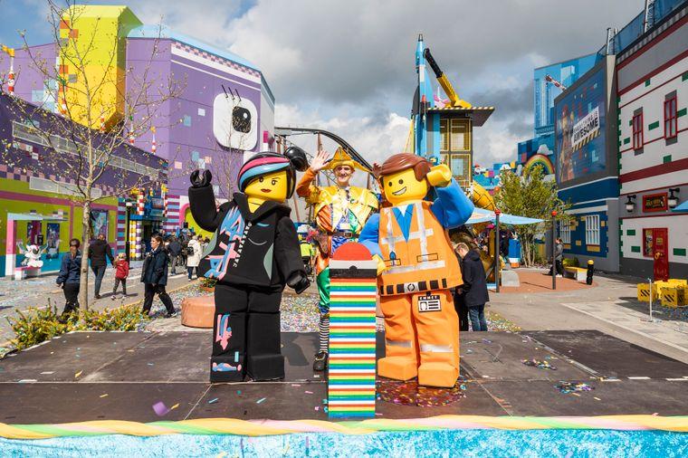 """Eröffnung der neuen Themenwelt """"Lego Movie"""" in Legoland BIllund in Dänemark."""