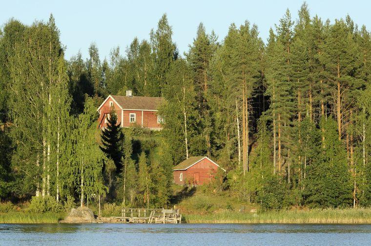 Mitten in der Natur: Sommerhäuser am Saimaa-See.