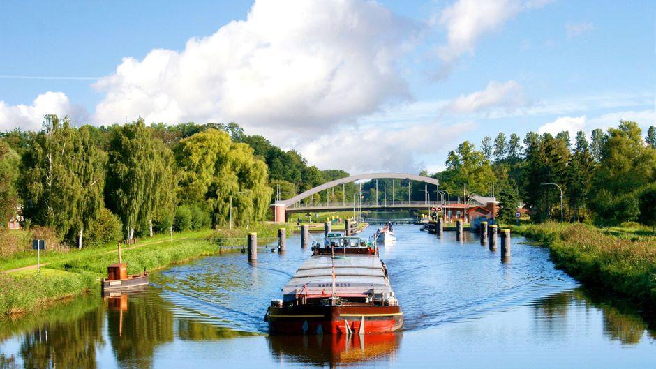 Der Elbe-Lübeck-Kanal ist die blaue Ader der Stecknitz-Region.
