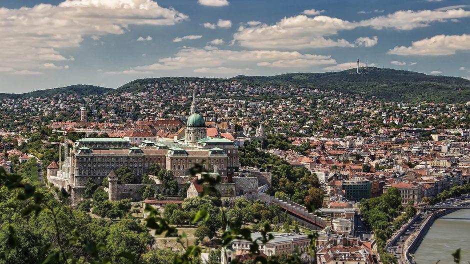 Blick auf Budapest in Ungarn.