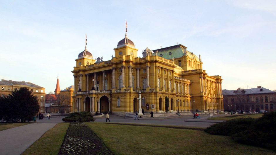 Das kroatische Nationaltheater in Zagreb ist nicht nur von außen ein Hingucker.
