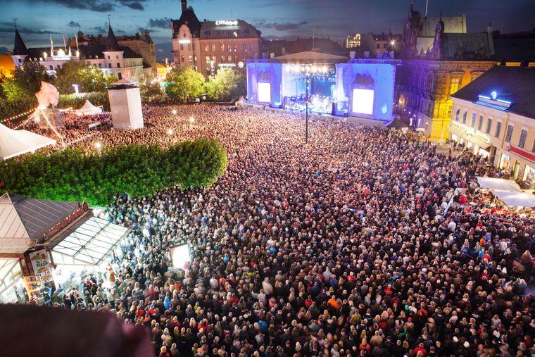 Besucher beim Malmö Festival, Schweden