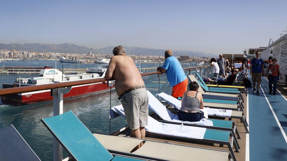 Palme de Mallorca ist einer der von Kreuzfahrtschiffen am häufigsten angelaufenen Häfen im Mittelmeer.