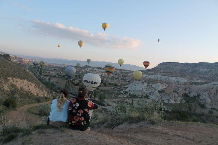 Blick auf Kappadokien in der Türkei.