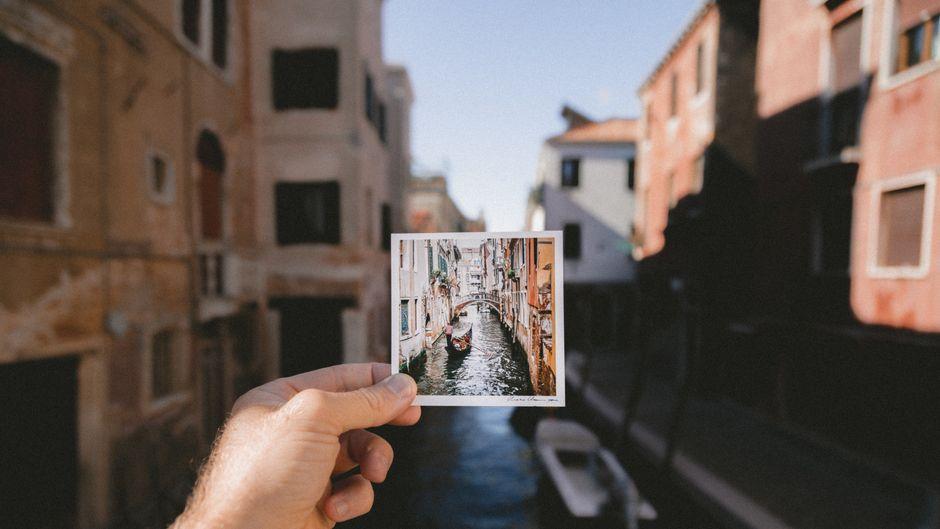 Ein Foto von Venedigs Kanälen.