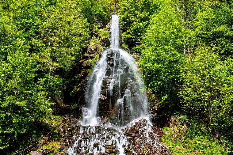 Der beeindruckende Trusetaler Wasserfall.