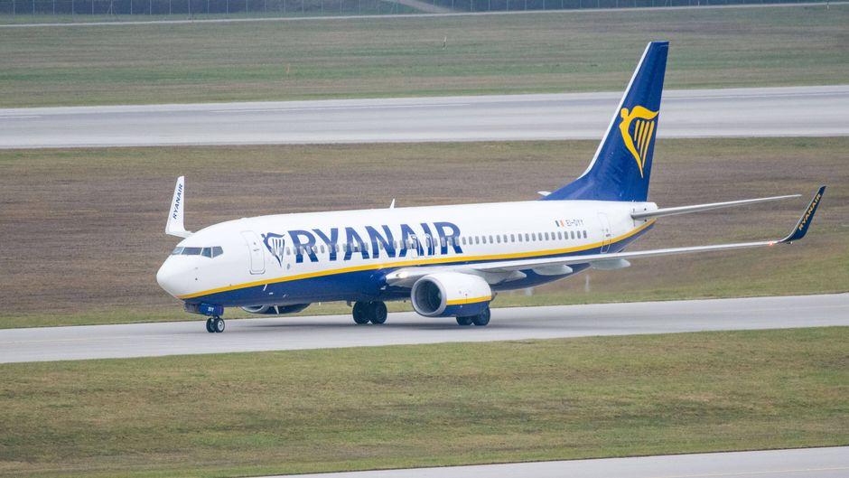Ein Ryanair-Flugzeug.