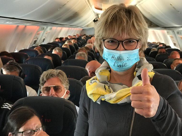Karina Wienandt aus der Nähe von Berlin freut sich darauf, endlich wieder nach Malle zu fliegen.