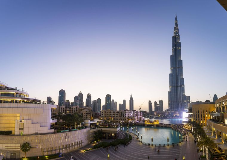 Wolkenkratzer Burj Khalifa in Dubai