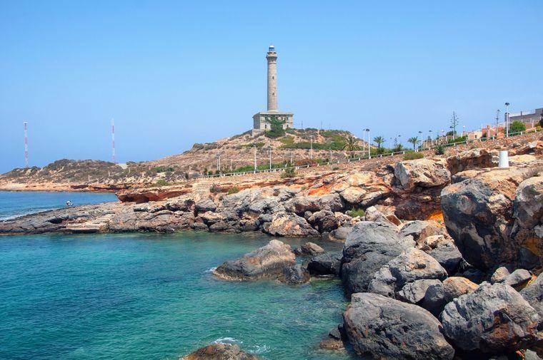 Die Küste von Costa Calida in der Murcia-Region.