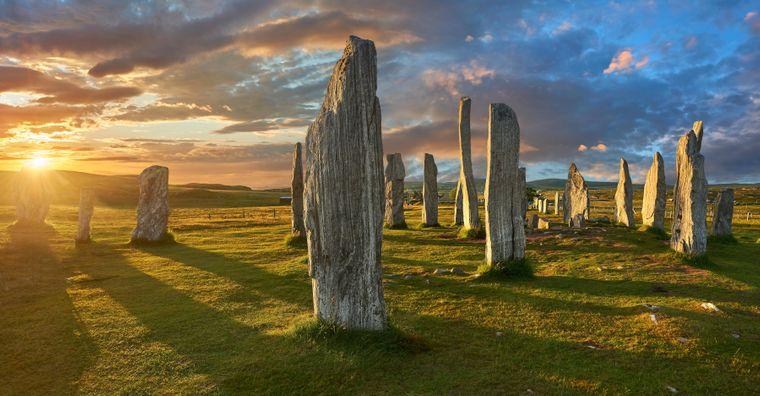Die Callanish Stones sind nicht zu verwechseln mit Stonehenge in England.