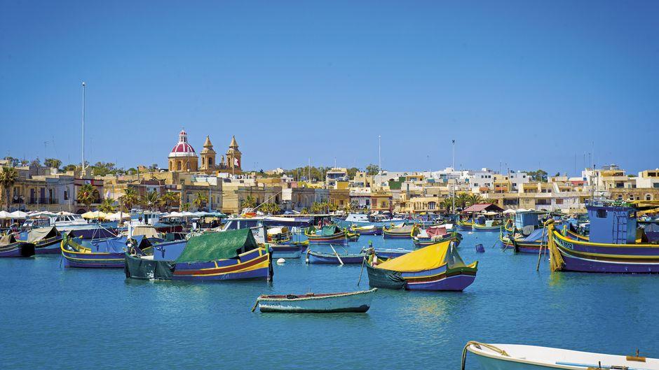 Der Hafen von Valletta auf der Insel Malta ist ein echter Hingucker.