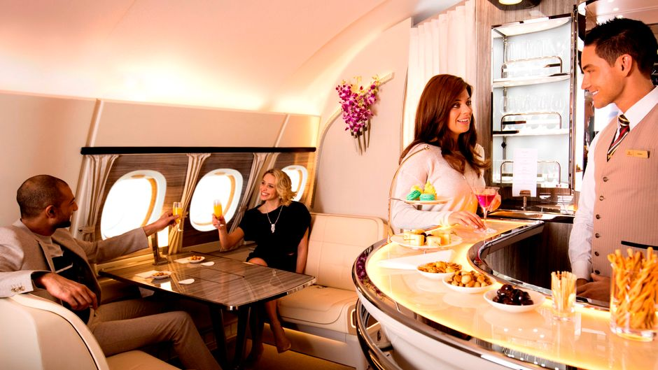 Onboard-Lounge bei Emirates