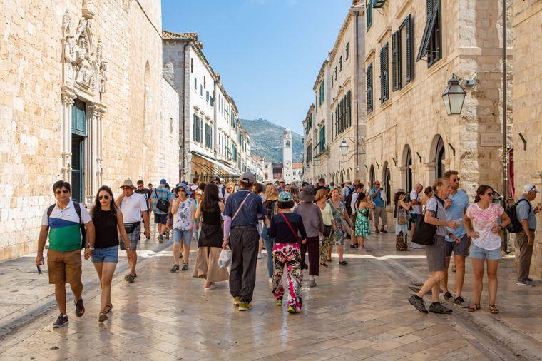 Die Altstadt von Dubrovnik ist nur für Fußgänger zugänglich.