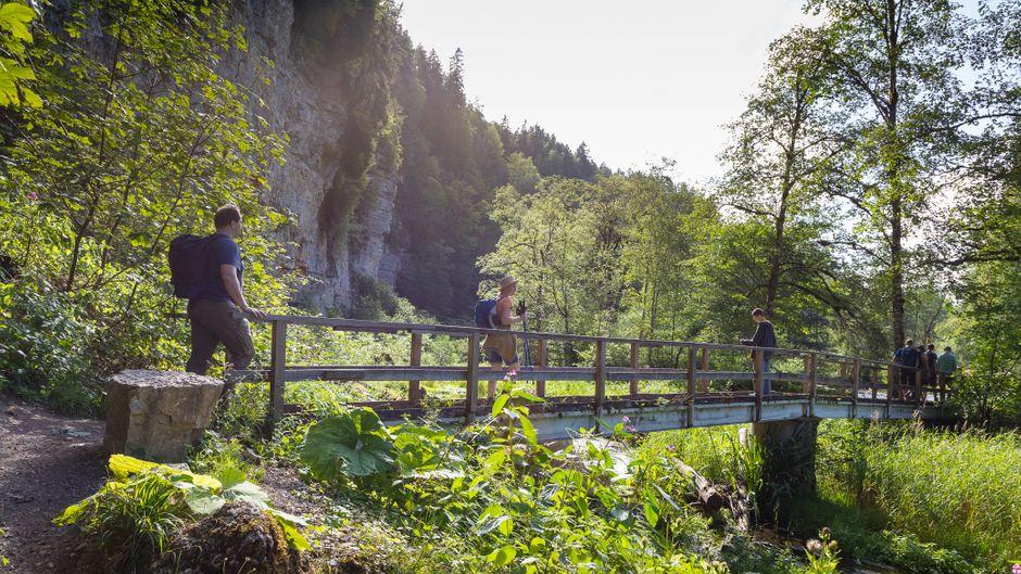 Wanderung durch die Wutachschlucht im Naturpark Südschwarzwald.