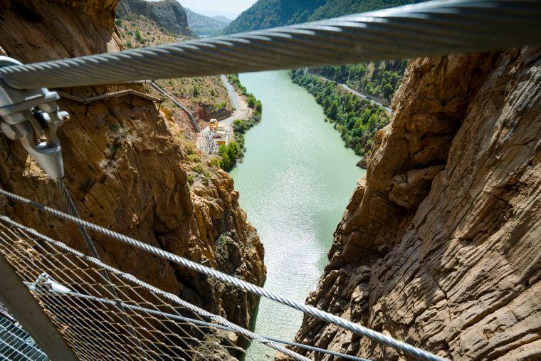 Die Aussicht vom spanischen Caminito del Rey.