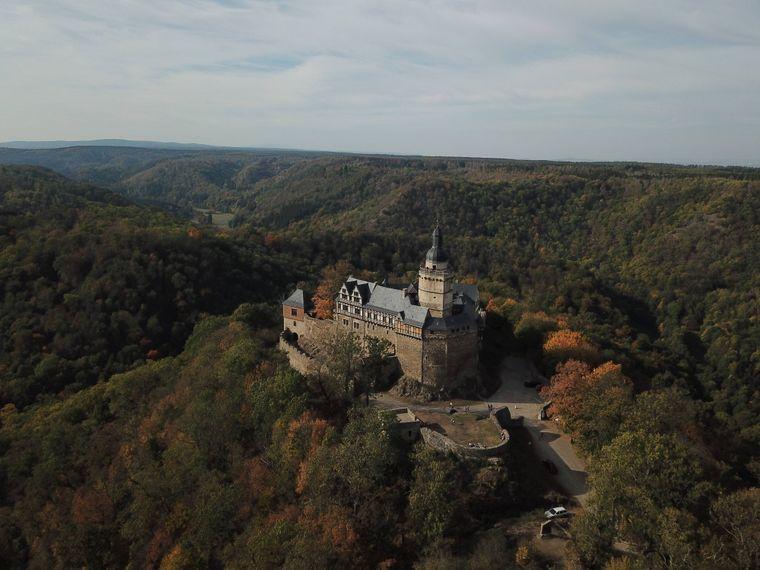 Beeindruckend: die Burganlage des Schlosses in Falkenstein.