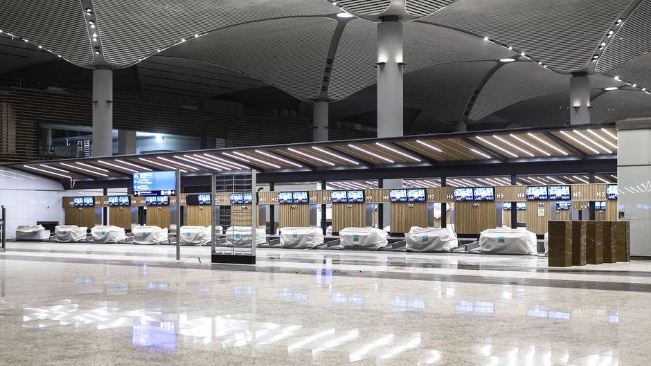 Das Terminal für internationale Flüge am neuen Flughafen in Istanbul.