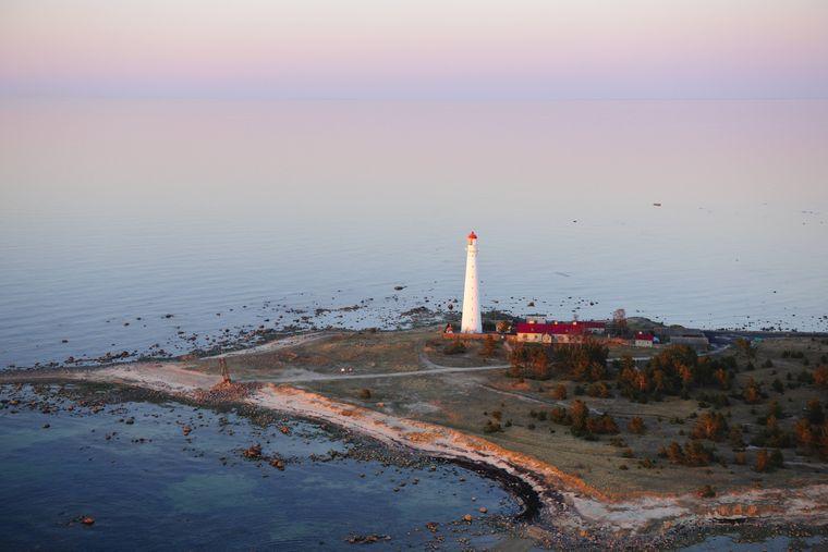 Leuchtturm am Ende der Insel Hiiumaa in Estland.