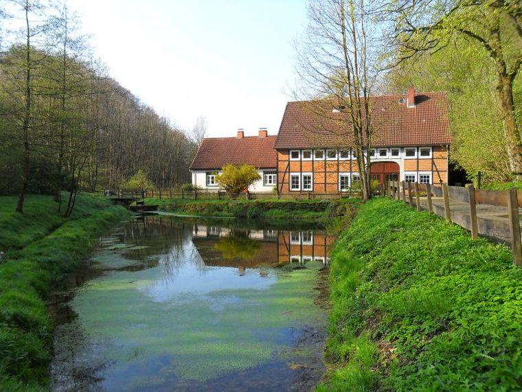 Die alte Mühle in Hessisch Oldendorf in der Nähe der Weser.