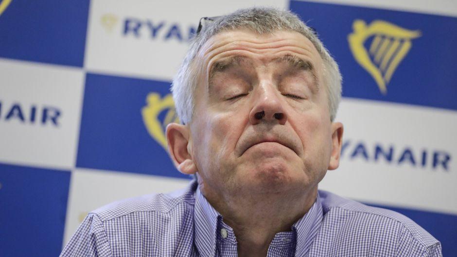 Ryanair-CEO Michael O'Leary bei einer Pressekonferenz der irischen Billig-Airline in Brüssel.