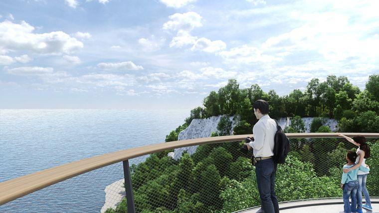 Im Juni 2021 begannen nach zehnjähriger Planungsphase die Bauarbeiten für die Plattform am Königsstuhl.