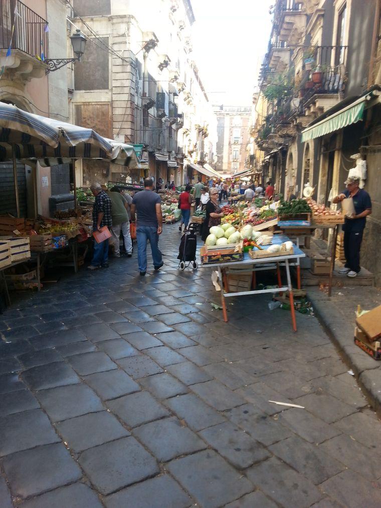 Markt in Catania.