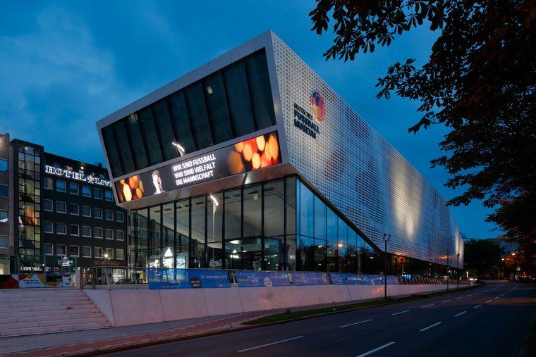 Das Deutsche Fußballmuseum in Dortmund.