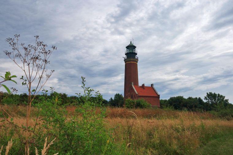 176 Stufen sind es bis ins Obergeschoss des Leuchtturms auf der Greifswalder Oie.