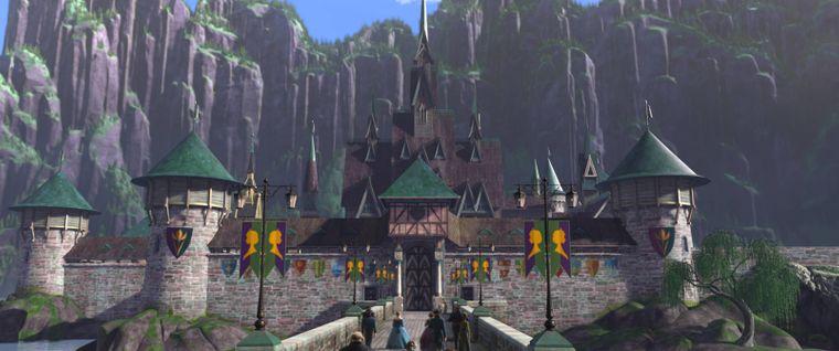 """Das Schloss Arendelle aus dem Disney-Film """"Frozen""""."""