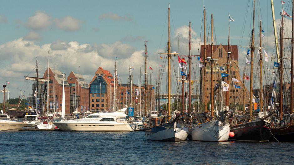 Am Stadthafen in Rostock steigt im Juni eine riesige Party.