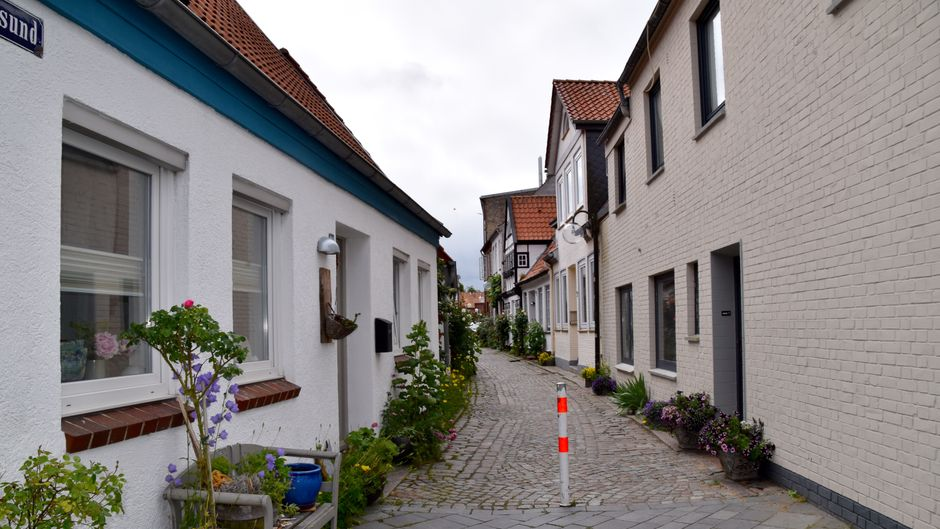 Altstadt in Eckernförde.