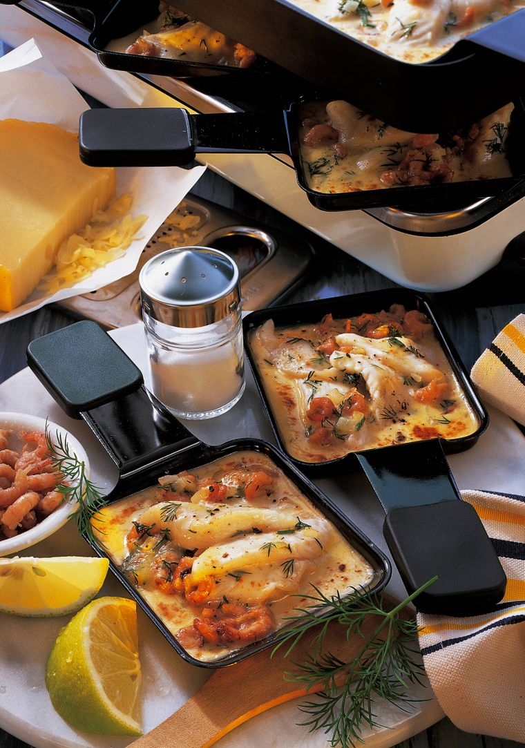 Für Weihnachten ist Raclette perfekt: lange sitzen und mit den Liebsten reden.