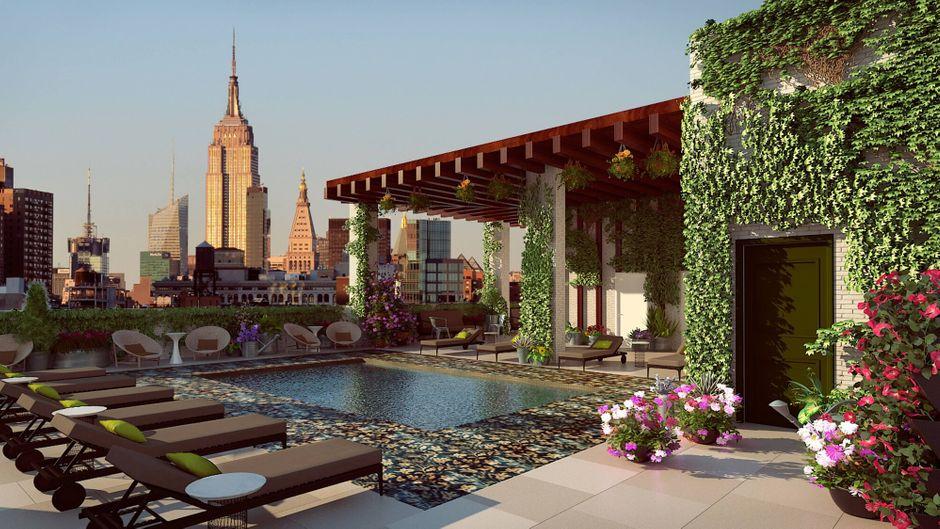 Abtauchen im 39. Stock: In New York eröffnet der höchste Pool der Stadt.