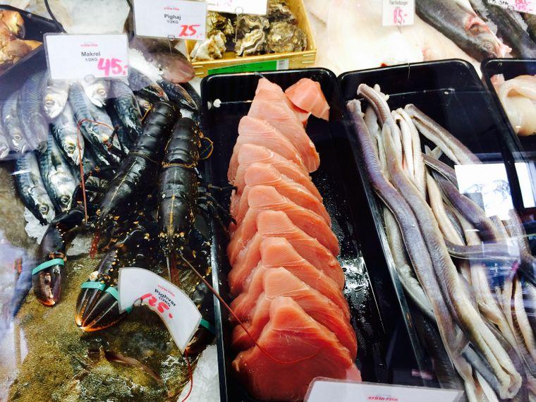 Frischer Fisch: das perfekte Mittagessen bei einer Pause in Middelfart.