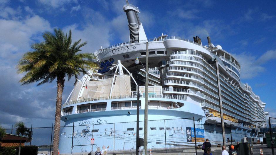 """Die """"Oasis of the Seas"""" kam einen Tag früher als geplant zurück zum Hafen Port Canaveral in Florida."""