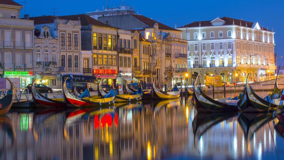 Auf den Kanälen von Aveiro kommt Adria-Flair auf.