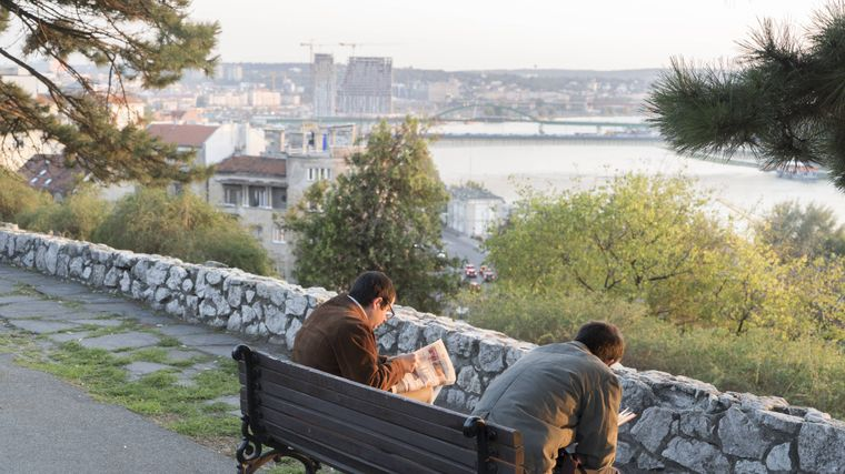 Von der Parkanlage Kalemegdan aus hast du eine tolle Aussicht auf die Stadt.