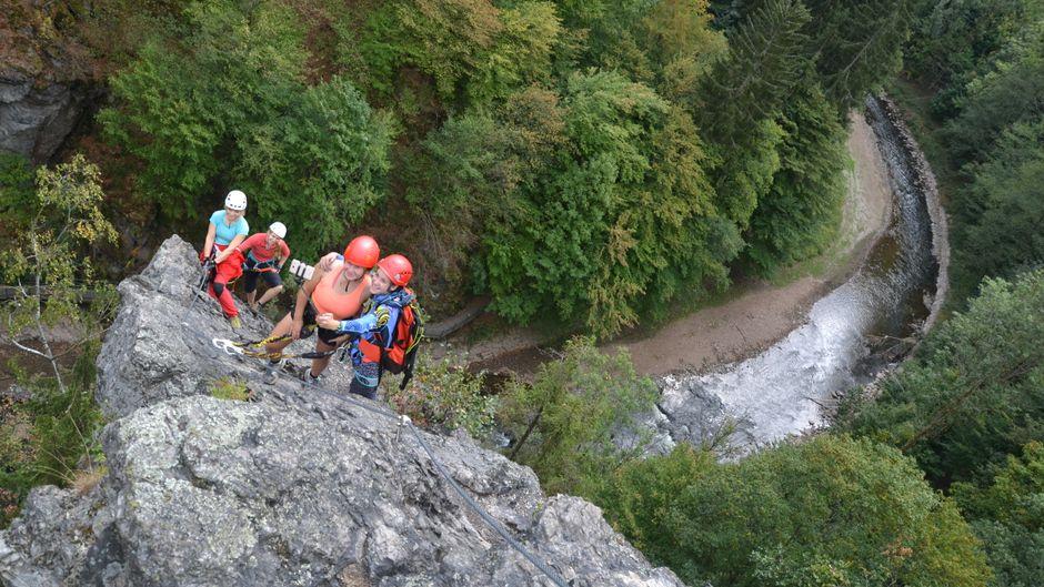 Die Via Ferrata Vodní brána in der Stadt Semily liegt in einer der beliebtesten Kletterregionen des Landes: im Böhmischen Paradies.