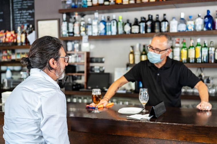 Bestellung an der Bar