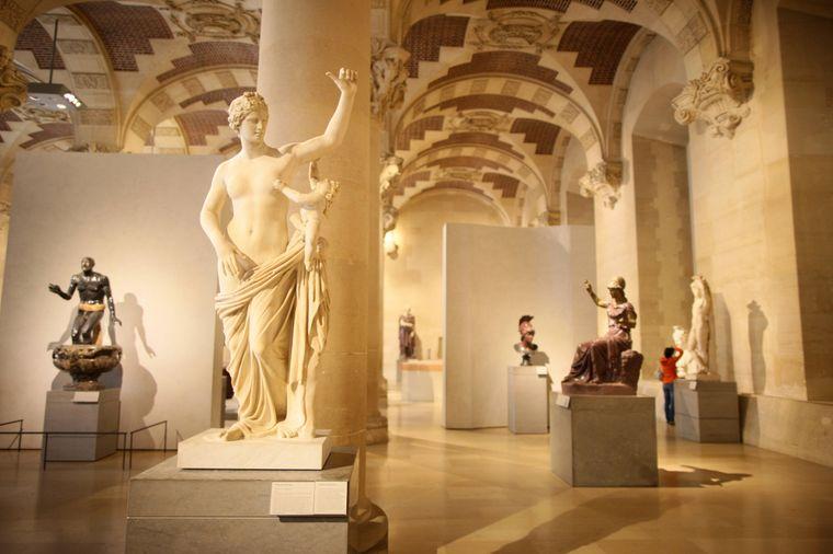 Die Salle du Manege im Louvre war früher die königliche Reithalle.