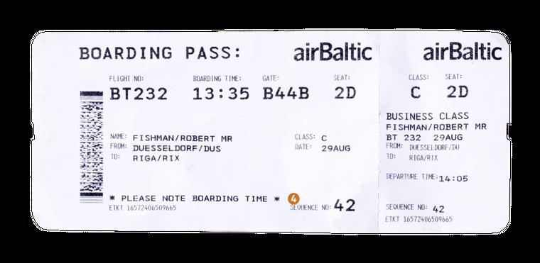 4. Die Sequence Number zeigt dir an, wie viele Passagiere vor dir eingecheckt haben. In dem Fall sind es 41, du warst der 42. am Check-in-Schalter.