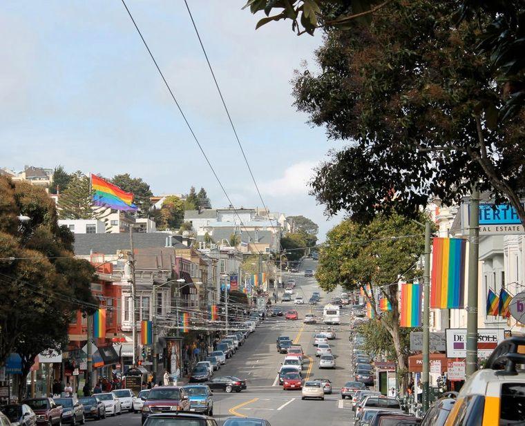 """Der Stadtteil """"Castro""""."""
