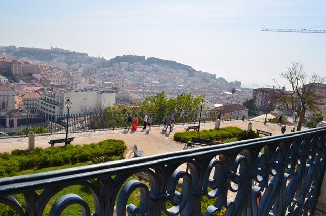 Bairro Alto liegt überhalb des Stadtteils Baixa. Eine Tram führt dich nach oben.