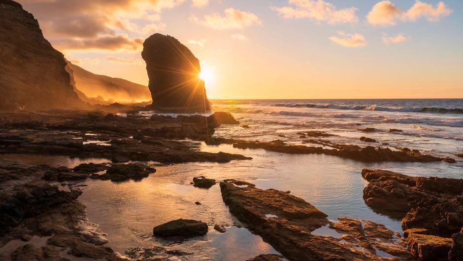 Sonnenuntergang am Roque del Moro im Jandia Nature Park auf Fuerteventura.