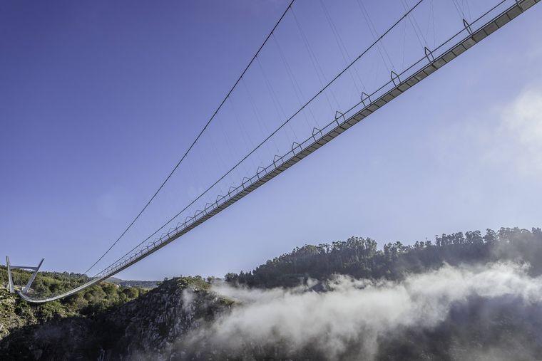 Die 516 Arouca Bridge in Portugal ist die längste Hängeseilbrücke weltweit.