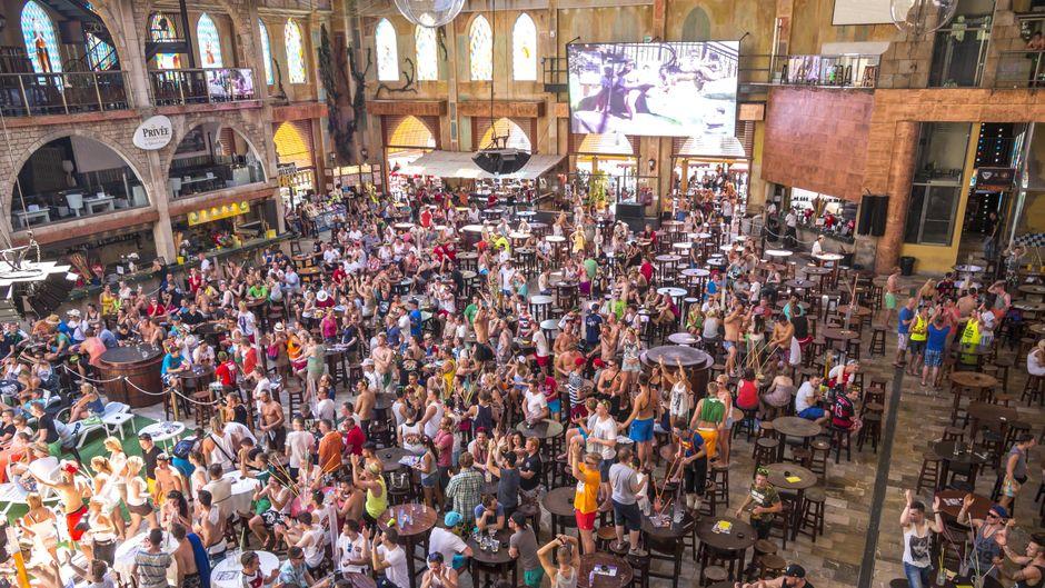 Deutscher Partytempel auf Mallorca: Im Megapark steigen die wildesten Parties der Insel.
