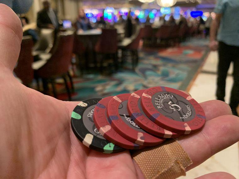 Immerhin: 20 Dollar Gewinn beim Roulette im Bellagio.